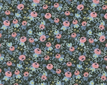 Rosa in Hunter from the Menagerie collection by Rifle Paper and co for Cotton and Steel - 8004-05