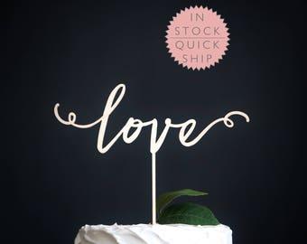love wedding cake topper   wedding cake topper   wood wedding cake topper   love wedding decor   rustic wedding cake topper