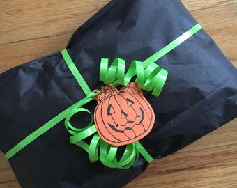 Jack-o-Lantern Halloween Treat Gift Tag