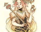 RESERVED INGE MarchOfTheFauns 2018 Limited Edition Double Matted Faun Print with Story Scroll x3