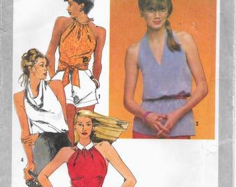 Simplicity 9570 Summer Halter Tops Camisoles Vintage 1980 Size 12   Uncut