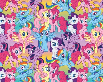 Springs Creative Hasbro My Little Pony Packed Ponies Fabric - 1 Yard