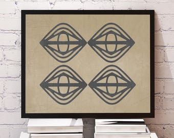 Zen Geometric Moroccan, Tribal, Boho Wall Art 8x10 or 11x14