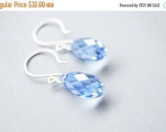 SALE Earrings, Blue Earrings, Silver Earrings, Crystal Earrings, Dangle Earrings, Drop Earrings, Handmade Earrings, Gift for Her, Bridesmaid