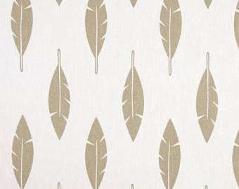 Feather change pad cover - white and gold nursery decor