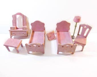 Strombecker Pink and Silver Doll Furniture