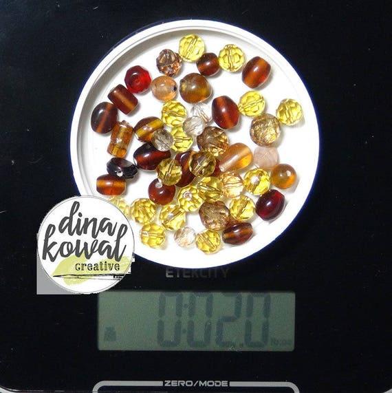 Destash - 2 oz. quality glass bead mix - brown 1