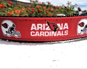 """Dog Collar,Arizona Cardinals, 1"""" wide ,Side Release collar, or ,Martingale collar, style adjustable , NFL,"""