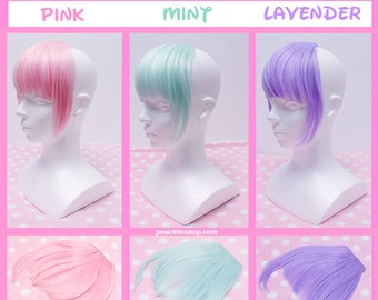 Harajuku Lolita Fairy Kei Kawaii Cute Japan Pastel Clip in Bangs Bundle (3 Colours)