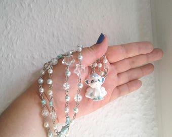 Pokémon Necklace - ALOLAN VULPIX - Ippai Figure Necklace - Decora, Kawaii, Pastel Goth - Summer - Pokemon GO - Pokemon Sun and Moon - Alola