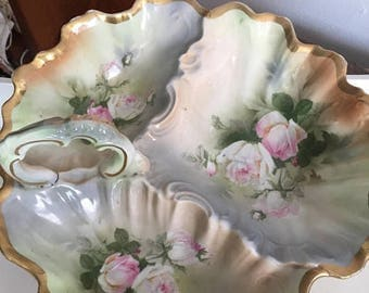 Antique Serving Dish Bavaria Nuts  Candy  Bowl