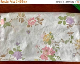 SALE Vintage queen flat sheet remix bed sheets bedding retro linens hippie fabric 80s sheets vintage crafts fabric