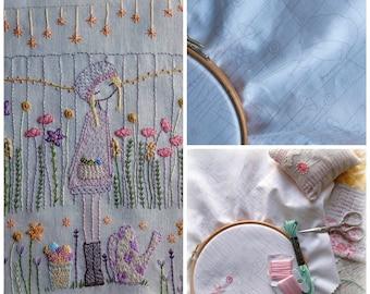 flower gardener sampler to stitch