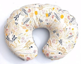 Nursing Pillow Cover- WISPY DAYBREAK- floral boppy cover- boppy cover- girl boppy cover- wildflower boppy cover