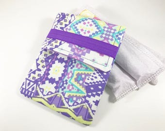 Tampon Case, Tampon Holder, Tampon Wallet Purple Tribal