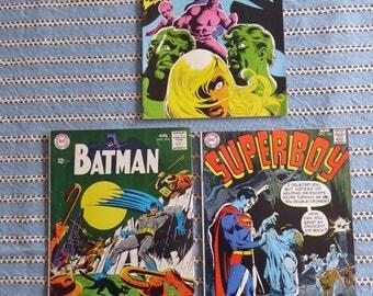 3 60'S 70'S Action Super Hero Comics  Superboy Batman Secret Six  DC  National Comics