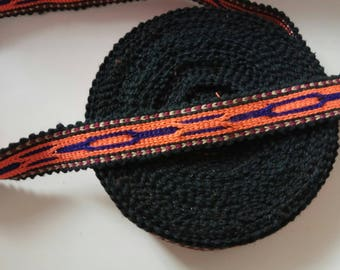 Uzbek handwoven cotton trim Jiyak. Tribal ethnic, boho, hippy trim. NTR022