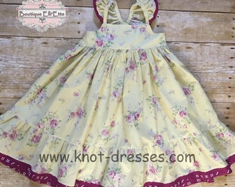 Ready to Ship 4T Girls Ella Dress Delicate Collection with Flutters Toddler Infant Girls