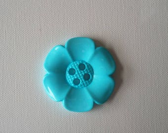 Extra Large Flower Button -Pale Turquoise