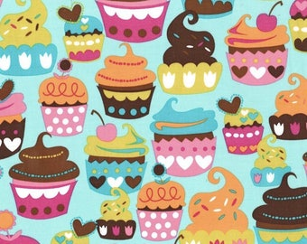 Sweet Treats Fabric in Turquoise by Michael Miller Fabric Half Yard