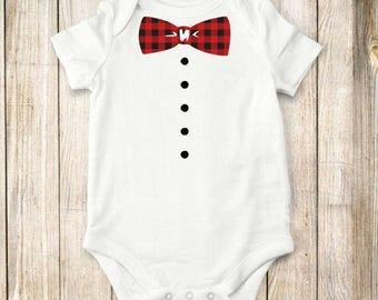 ON SALE Bowtie onesie, Shirt,  bodysuit, children clothing, baby, tops,shirt