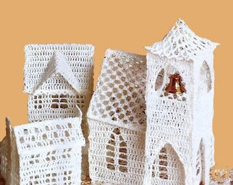 Christmas village-crochet pattern-pdf-instant download