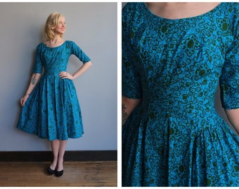 1950s Dress // New Look Jewel Dress // vintage 50s dress