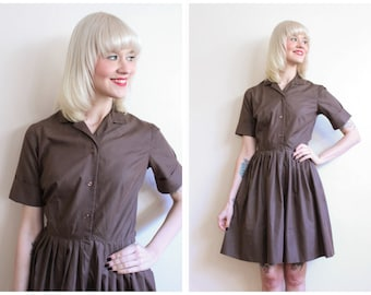 1960s Dress // Spectator Shirtwaist Dress // vintage 60s dress