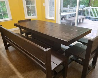 6 foot Bench with back