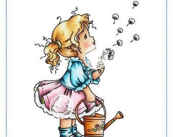 Whimsy Stamps --  Dandelion Girl -- NEW -- (#2318)