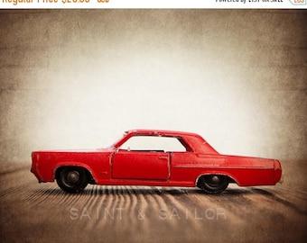 FLASH SALE til MIDNIGHT Boys Room Art – Vintage Matchbox Red Pontiac Gp Sports Coupe  Photo Print – Multiple Sizes Available