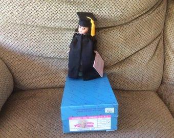 "Madame Alexander 8"" Graduation #307 - 1990 w/box, wrist and dress tags"