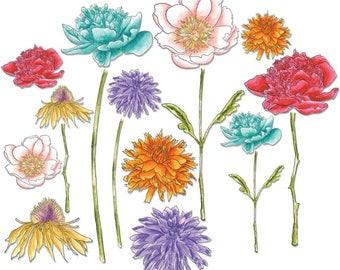 Flower Garden & Mini Bouquet Dies Set -  Sizzix FramelitsTim Holtz Alterations