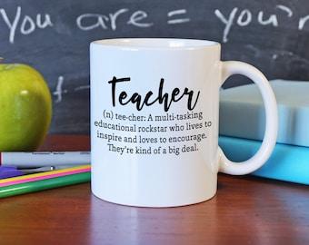 Teacher Gift for Her - Teacher Gift for Him - Teacher Coffee Mug - Teacher Appeciation Gift - Christmas Gift for Teacher