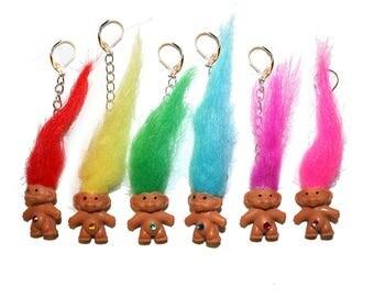 90's Vintage Troll Doll Earrings - RARE earrings Gem Troll Gem belly troll russ troll vintage collectible troll 80s troll 90s troll 1980 toy