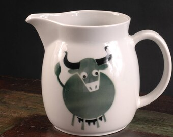 Arabia, Finland, Kaj Franck Design, Green Cow Pitcher