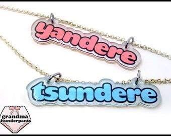 Tsundere or Yandere Necklace, Anime, Manga, Pastel