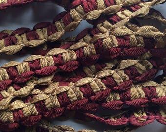 SALE 5.yard piece wine bronze  ribbon finishing trim item #A23