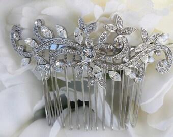 wedding hair comb,wedding hair accessories,bridal hair comb,bridal hair accessories,art deco,vintage hair comb,crystal comb,hair accessories