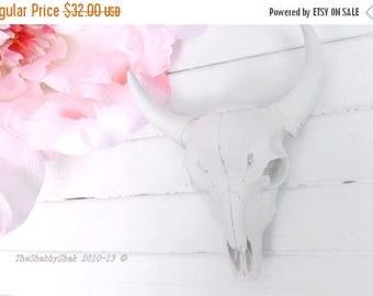 ON SALE White Longhorn Skull~Anthropologie~Texas Longhorn