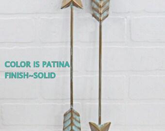 Patina Arrow /  Arrow Decoration / Wall Arrow Decor / Arrow Nursery DecorCyber Monday