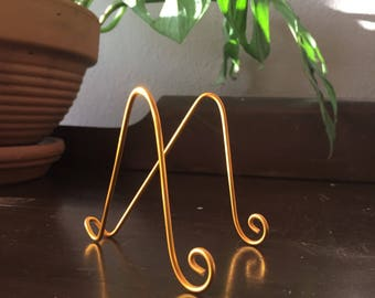 "15pk Large GOLD MINI  Easel Holder Stand for 5"" x 7"" Wedding Table Number Photo Promotion Display"