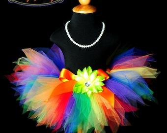 Colorful Rainbow Pixie Tutu...Rainbow Birthday Tutu, Clown Tutu...Baby, Toddler, Girls Sizes . . . RAINBOW PIXIE