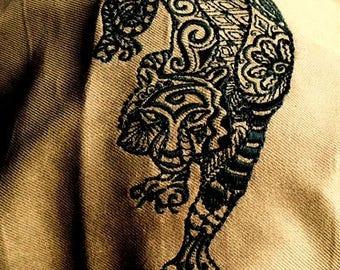 Black Tiger Tarot/Altar Cloth