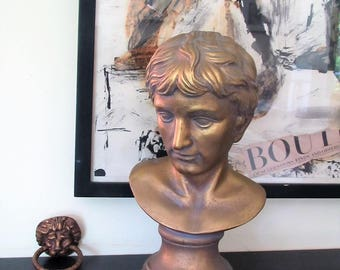 Vintage bust/gold bust man/classical bust