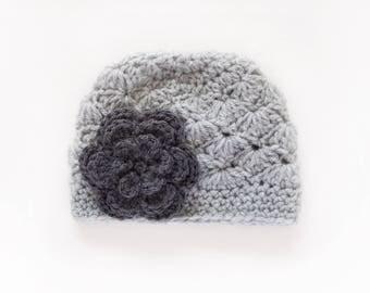 Girls Winter Hat / Crochet Girls Hat / Newborn Girl Hat / Baby Girl Hat / Girls Hat / Gifts For Girls / Crochet Baby Hat / Girls Beanie