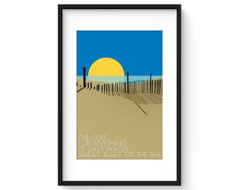 The Cure For Anything - Giclee Print - Modernist Minimalist Illustration