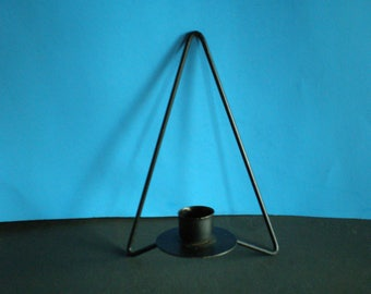 Vintage Mid Century Metal Danish Modern Wall Candle Sconce