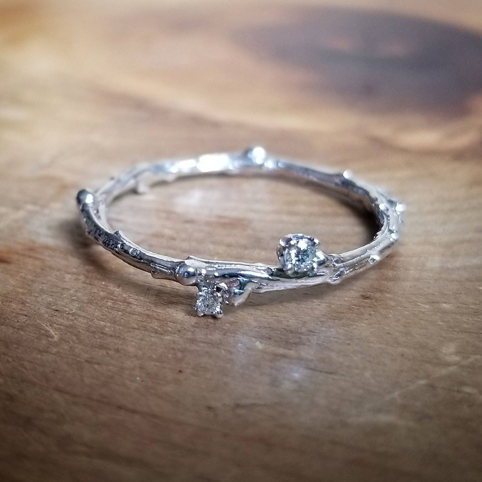 etsy ring lab twig of engagement wedding fresh bands branch swarovski tree rings set