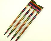 Custom made for Carolin Four Prong Hair Fork made from Tapestry DymondWood-  Very durable. Water resistant.